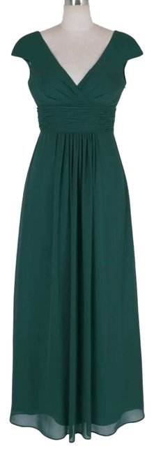 Preload https://item1.tradesy.com/images/green-elegant-pleated-waist-mini-sleeves-long-formal-dress-size-8-m-1336210-0-0.jpg?width=400&height=650