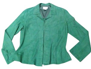 Cache Suede Soft Comfortable mint green Jacket