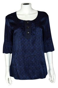 Marc by Marc Jacobs Satin Bold Print Blouse Tunic