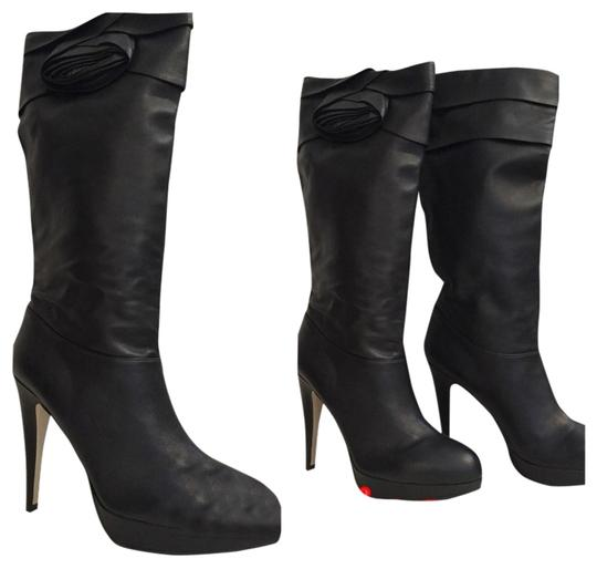 Valentino Leather Classic Black Boots