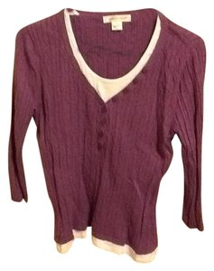 August Silk Layering 3/4 Sleeve Simple Comfortable Sweater