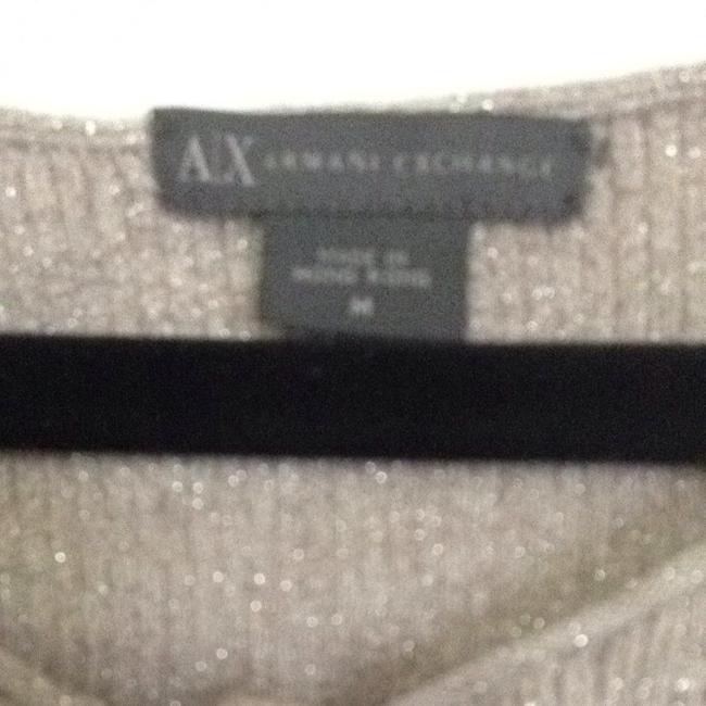 A|X Armani Exchange Top Light Taupe & Silver