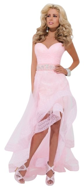 Preload https://item2.tradesy.com/images/tony-bowls-high-low-dress-pink-1336841-0-0.jpg?width=400&height=650