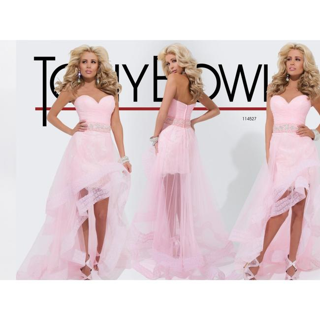 Tony Bowls High-low Strapless Tulle Dress