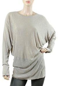 L'AGENCE Linen Batwings Modal Drape Draped Sweater