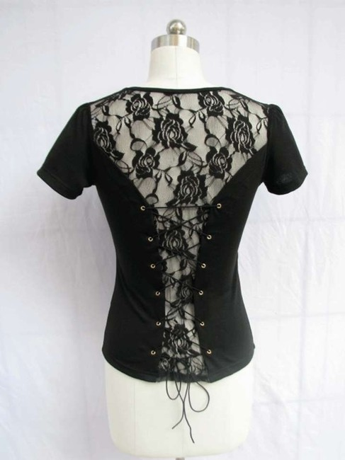 Preload https://item2.tradesy.com/images/black-rose-lace-corset-tie-blouse-night-out-top-size-14-l-133701-0-0.jpg?width=400&height=650