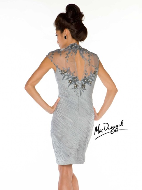 Mac Duggal Couture Cocktail Pageant Ruched Short Lace Beaded Dress