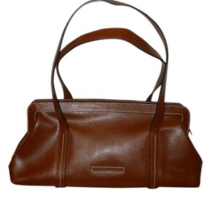 BCBGMAXAZRIA Leather Satchel in brown
