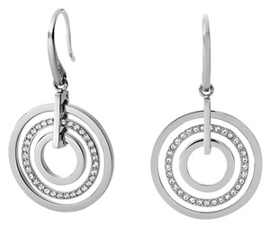 Michael Kors BRAND NEW! Michael Kors SILVER Pave Circle Drop Earrings