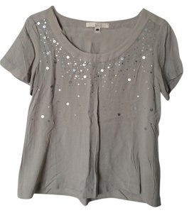 Banana Republic Top Gray with sequins