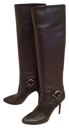 Jimmy Choo Designer Leather Stunning Leather black Boots