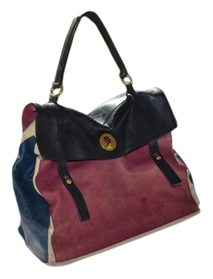 Laurent Saint Calf Leather Large Two Multicolor Shoulder Two Bag Muse Muse adn4f0pdr