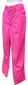 Escada Stretch Slim Vintage Highwaist Skinny Pants Hot Pink