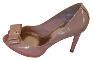 Coach Beige patent leather Platforms