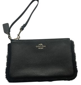 Coach Leather F64709 Wristlet in Black
