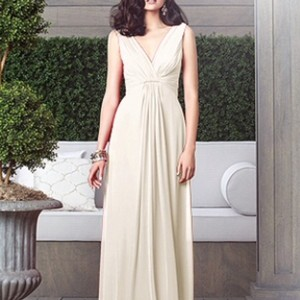 Dessy Palomino Chiffon Collection Style 2907 Formal Bridesmaid/Mob Dress Size 8 (M)