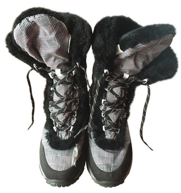 The North Face Black White Herringbone Boots/Booties Size US 7 Regular (M, B) Image 1