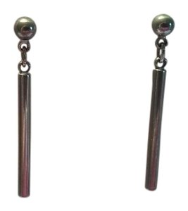 NEW Sterling Silver Ball And Bar Pierced Dangle Drop Earrings