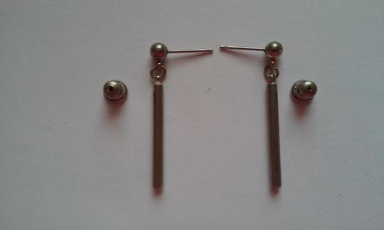 Other NEW Sterling Silver Ball And Bar Pierced Dangle Drop Earrings