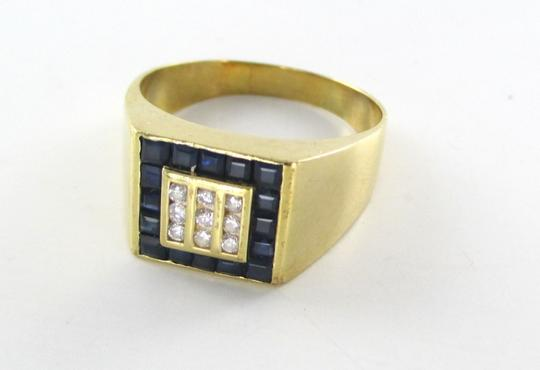 Other 14KT SOLID YELLOW GOLD RING SIZE 11 CLUSTER NINE 9 DIAMONDS .18 CARAT 7.4 GRAMS
