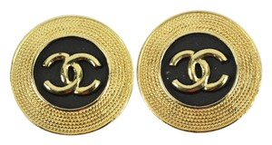 Chanel Chanel Gold Tone CC Logo Clip On Earrings CCAV319