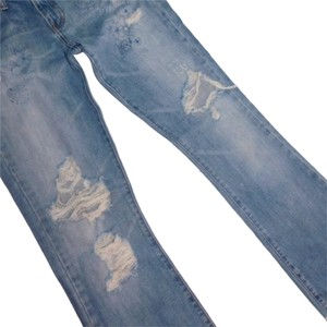 Abercrombie & Fitch Madison Destroyed A&f Paisley Flare Leg Jeans-Medium Wash