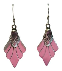 Other NEW Sterling Silver and Amethyst 925 Pierced Dangle Drop Earrings