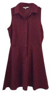 Jack short dress Maroon Fit & Flare Collar Button-down on Tradesy
