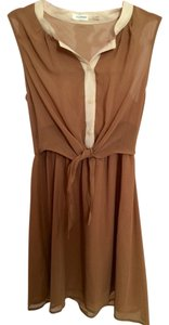 Blu Pepper short dress Beige, Tan on Tradesy
