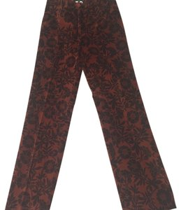 Etro Straight Pants Brown/Burnt Orange