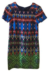 J.Crew short dress Multi Silk Mini Fitted on Tradesy