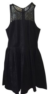 A|X Armani Exchange Mesh Fit & Flare Dress