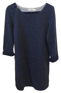 Ann Taylor LOFT short dress Navy Sweater Zipper on Tradesy