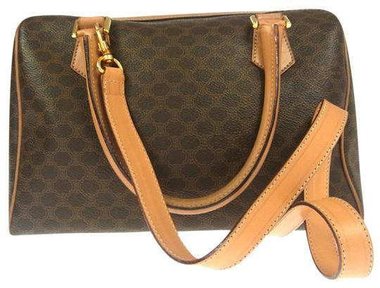 Preload https://item1.tradesy.com/images/celine-macadam-logo-hand-shoulder-strap-brown-pvc-leather-italy-tote-13375225-0-3.jpg?width=440&height=440