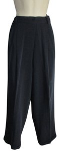 Ann Taylor Cuffed Trouser Pants Navy Blue - item med img