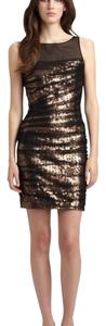 Cynthia Steffe short dress Black and Gold on Tradesy