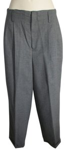 Hugo Buscati Dress Trousers Cuffed Trouser Pants Gray