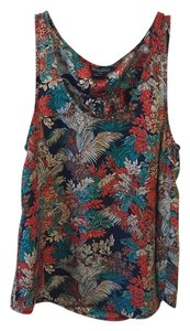 Lucky Brand Silk Top Multi