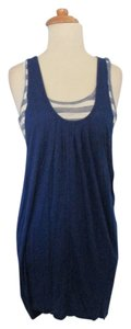 Eyeshadow Striped Tunic Top Blue