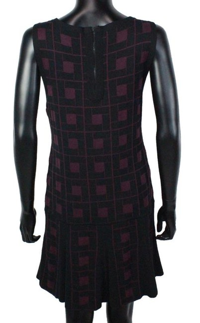 Alice + Olivia Sweater Drop Waist Sleeveless Geometric Dress
