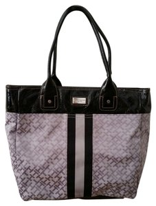 Tommy Hilfiger Mini Signature Logo Tote in Black and grey