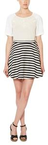 Anthropologie Anthro Skirt Black and Ivory Striped