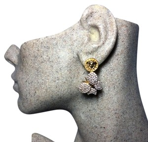 Versace Authentic Versace Vintage Medusa Crystal Pave Butterfly Earrings