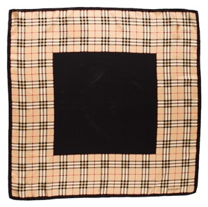Burberry Black, tan Burberry London Nova Check print silk scarf New