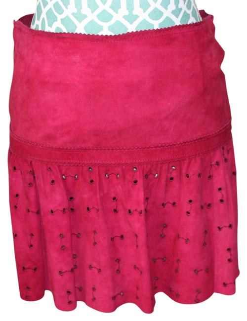 Gucci Mini Skirt Suede Fuchsia
