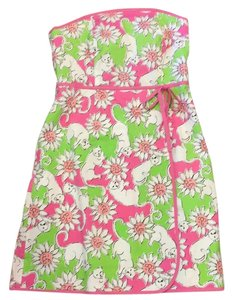 Lilly Pulitzer short dress Pink White Green on Tradesy