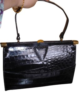Other Crocodile Skin Vintage Huge Excellent Shoulder Bag