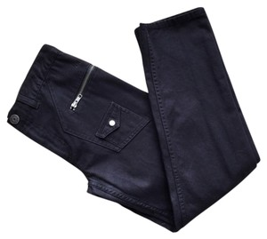 Marc Jacobs Cropped Ankle High Waisted Skinny Jeans-Dark Rinse