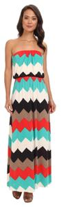 Red Teal Maxi Dress by Trixxi