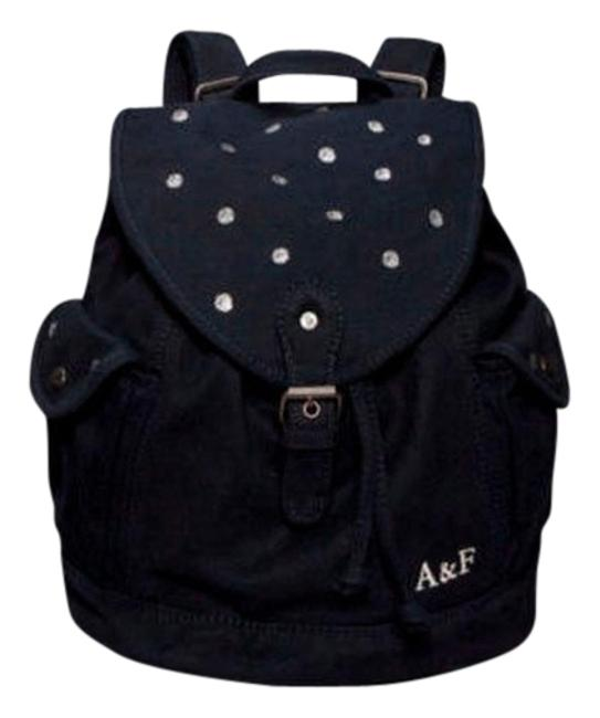 Item - Navy Blue and Silver Canvas Backpack